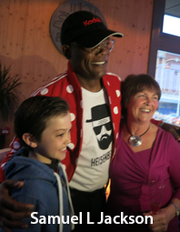Paul Frankland and Samuel L Jackson in Blackpool